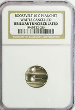 ROOSEVELT DIME BLANK 10c MINT CANCELLED COIN NGC HOLDER
