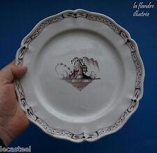 assiette faience de saint amand manganèse 18ème fabrique fauquez