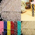 1000pcs 4mm 14 Facets Resin Rhinestone Gem Flat Back Crystal AB Beads DIY Decor