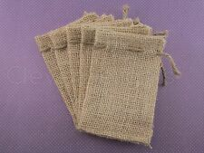 "25 Burlap Bags with Natural Jute Drawstring - 3"" x 5"" - Sack Favor Bag - 3x5"