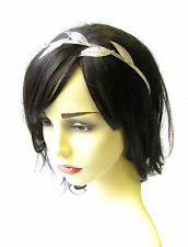 Silver Leaf Headband Headpiece Grecian Vine Hair Crown Laurel Roman Olive 1981