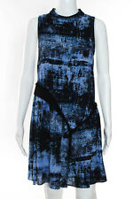 Proenza Schouler Multi-Color Silk Tiered Abstract Dress Size 2 $1150 New 109058