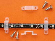 PK of 10 FIXING CLIPS FOR 12MM MAX LED STRIP - including SCREWS