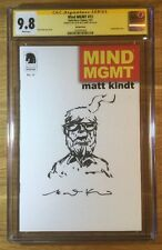 Mind MGMT 13, Blank Variant, CGC 9.8 SS, signed and sketch by Matt Kindt, NM/MT