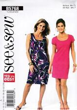 BUTTERICK SEWING PATTERN SEE & SEW MISSES' LINED DRESS 8 - 24  B5768