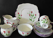 VINTAGE ROYAL ALBERT CROWN CHINA 21PCE TEA SET RARE HAND PAINTED UN-NAMED C1920s