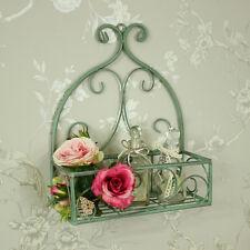 orné vert métal panier etagère murale jardin rangement de salle de bain étagère