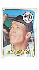 1969 Topps Baseball Card Maury Wills Montreal Expos #45
