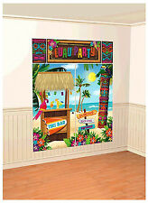 Tiki Scene Setter Wall Decoration Poster Luau Beach Party Supplies Decorations