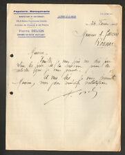 """CRAPONNE-sur-ARZON (43) USINE de CARTONNAGE / CHASSE & PECHE  """"P. DELION"""" 1934"""