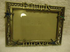 "STARS &""FRIENDS FOREVER"" PICTURE PHOTO FRAME 3"" X 5"" PHOTOS.. SILVERTONE METAL"