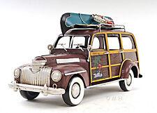"1947 Chevrolet Suburban Woody Metal Car Model 14"" Automobile Automotive Decor"