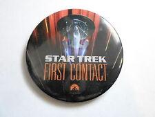 """VINTAGE 2 1/2"""" PINBACK BUTTON #103-038- MOVIE - STAR TREK FIRST CONTACT"""