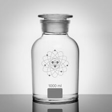 CLEAR GLASS LAB APOTHECARY JAR / CONTAINER • VEGAN FRIENDLY 1000ML - IDEAL GIFT