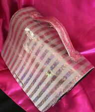 NWT Victoria's Secret Vinyl Shimmer Supermodel Essentials Hanging Cosmetic Bag