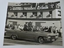1986 Photograph of Fidel Castro in Car with Raul Alfonsin Cuba Argentina Photo