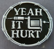 Yeah It Hurts Tattoo Artists Style Ink Machines Needles Belt Buckles Boucle