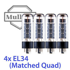 4x Mullard EL34 Reissue XF2 Vacuum Tubes, Matched Quad TESTED
