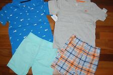 NWT Boys 5T CARTER'S Lot of 2 Shorts Sets CUTE ~ L@@K!