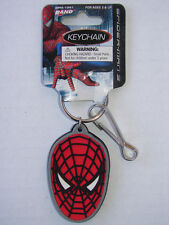RARE SPIDERMAN KEY CHAIN Key Ring 2007 MINT ON CARD RUBBER BY RAND MARVEL COMICS
