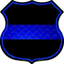 Thin Blue Line Police Metal Novelty Highway Shield Sign