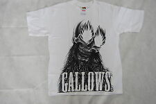GALLOWS FIRE EYES SKULL YOUTH T SHIRT 10-12 YEARS NEW OFFICIAL GREY BRITAIN RARE