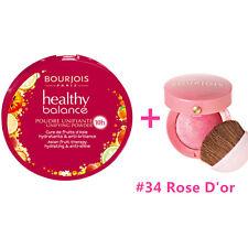 BOURJOIS Healthy Balance Compact Powder 55 dark Beige + Blush #34 Rose D'or