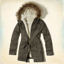 HOLLISTER By Abercrombi​e & Fitch Winter Coat Jacket Parka insulated Gray L