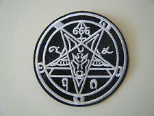 666 BAPHOMET PATCH Iron On Occult Goat Pentagram Doom Black Metal Pentacle NEW