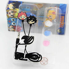 Fairy Tail Japan Anime Lucy Natsu Guild Sign Metal Earphone earplug earwax