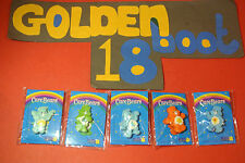 CARE BEARS - PIN BADGE BUNDLE - MARIE CURIE CANCER CARE - SET OF 5 - BNIP NEW