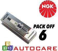 NGK V-Power Range Spark Plug set - 6 Pack - Part Number: FR5-1 No. 7252 6pk