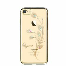 SWAROVSKI Element Foliflora Elegant Back Cover Case for iPhone 7-Gold Frame