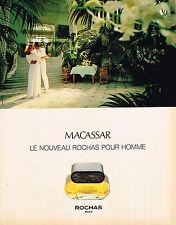 PUBLICITE ADVERTISING 104  1980  ROCHAS  parfum pour homme MACASSAR