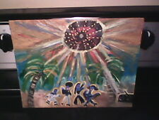 Alien Disco Reunion on the Beach Abstract Art painting by Linda Stamberger!