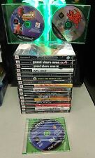 PLAYSTATION 2 GAMES LOT OF 19 - LOW END VALUE $100 - 16/19 HAVE BOOKLET & CASES