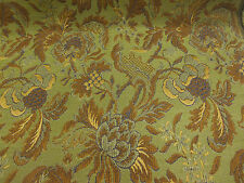 Green Vintage Style Italian Made Brocade Fabric. (Simply exceptional)