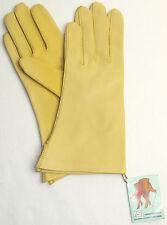 DAMEN LEDER HANDSCHUHE RSL Leather Finger ohne Futter Sonne Gelb 6 3/4