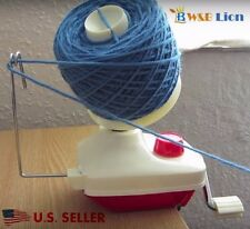 NEW Hand Operated Knitting Roll String Yarn Fiber Wool Thread Ball Winder Holder