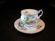 "Pretty Canadian Provicial Flowers Elizabethan ""Lady Slipper"" Cup & Saucer Set"