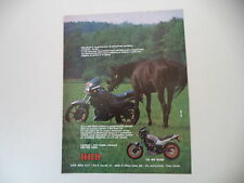 advertising Pubblicità 1985 MOTO HRD 125 WH ROAD