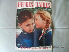 HEURES CLAIRES N°138 01/1957 MODE TRICOT CUISINE     G46