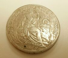 Peru Un Sol, 1926 silver crown One Sol