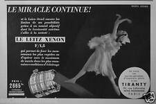 PUBLICITÉ 1937 LE LEITZ XENON LE MIRACLE CONTINUE TIRANTY - ADVERTISING