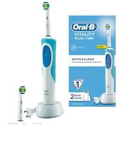 Braun Oral-B Vitalidad Plus Blanco & Cepillo De Dientes Eléctrico + 1 Extra New