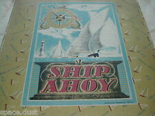 SHIP AHOY GAME - 1947 - SHIPPING GAME - VINTAGE GAME - J DRING LTD - YACHT RACE