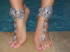 Jeweled Barefoot Sandals Wedding Foot Bling Vacation jewelry Bridal Anklet