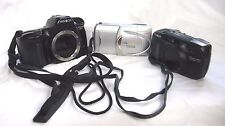 Lot of 2 Minolta Cameras & 1 Olympus Camera For Parts or Repair