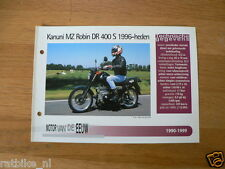 MVE47- KANUNI MZ ROBIN DR400S 1996-HED MINI POSTER AND INFO MOTORCYCLE,MOTORRAD