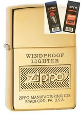 Zippo 28145 Windproof Polish Brass Lighter with *FLINT & WICK GIFT SET*